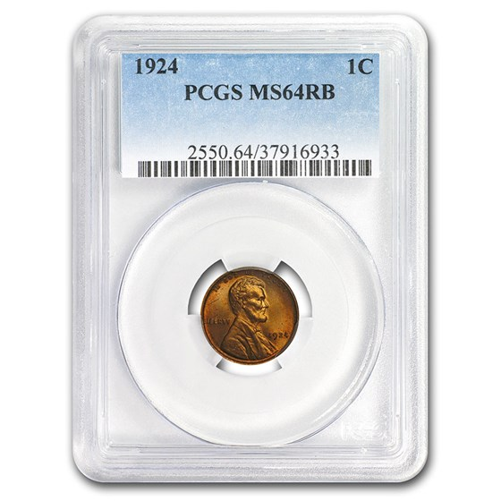 1924 Lincoln Cent MS-64 PCGS (Red/Brown)