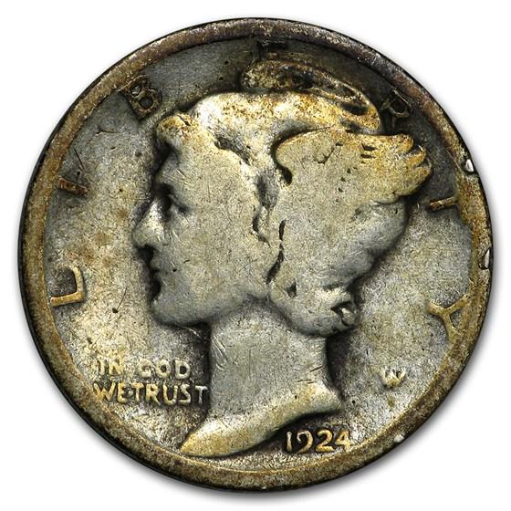 1924 Mercury Dime Good/Fine