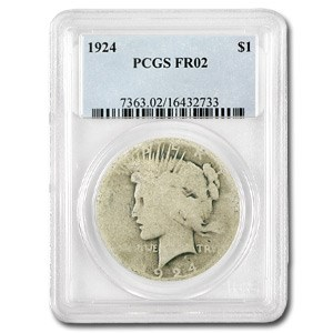 1924 Peace Dollar Fair-2 PCGS (Low Ball Registry)