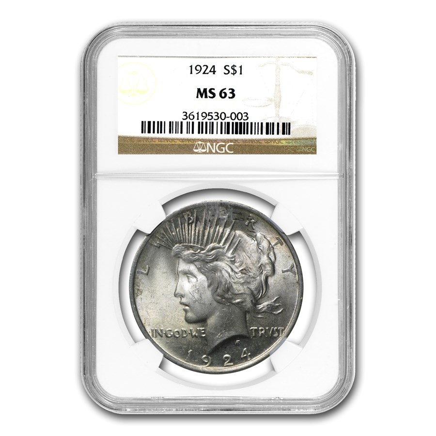 1924 Peace Dollar MS-63 NGC