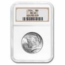 1924 Peace Dollar MS-65 NGC