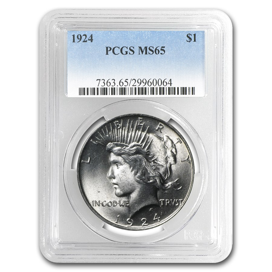 1924 Peace Dollar MS-65 PCGS
