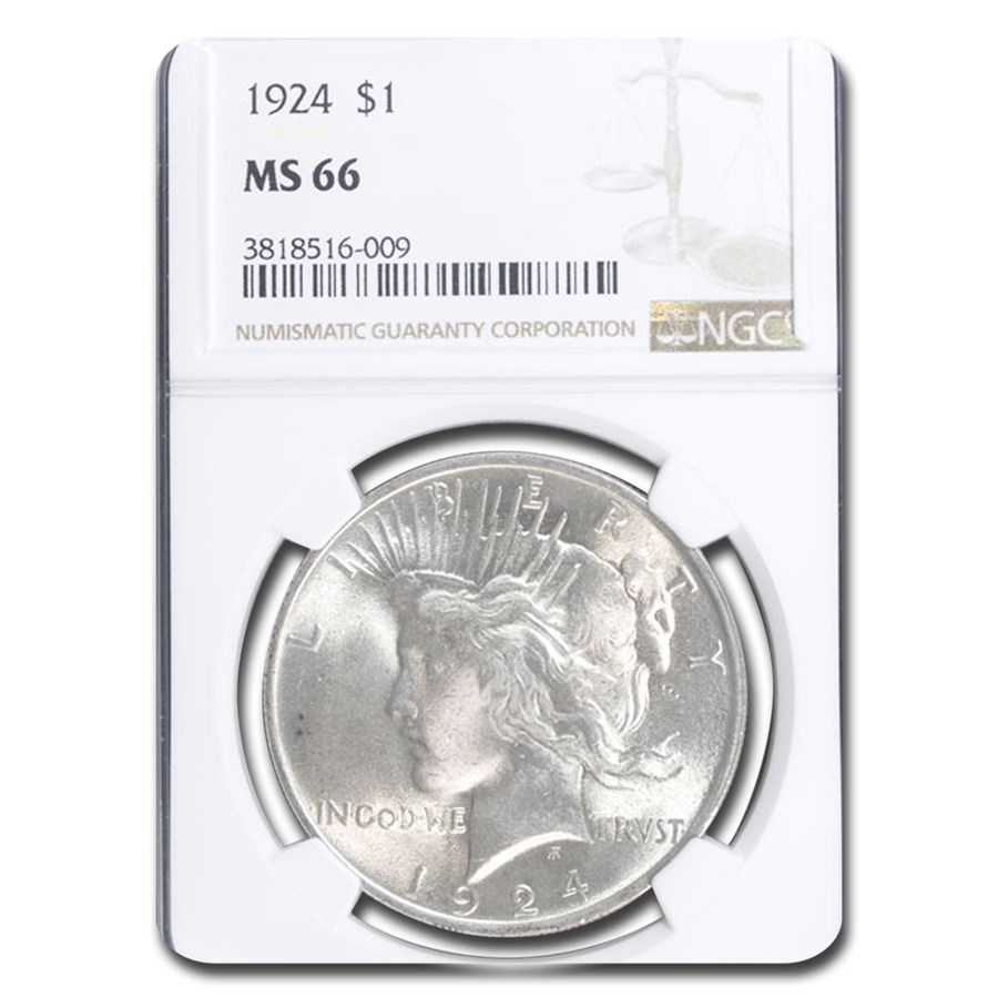 1924 Peace Dollar MS-66 NGC