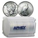 1924 Peace Silver Dollars AU (20-Coin Roll)