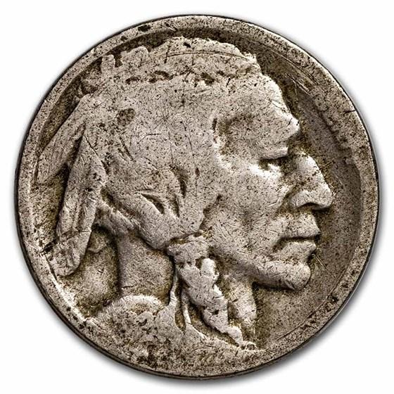 1924-S Buffalo Nickel AG