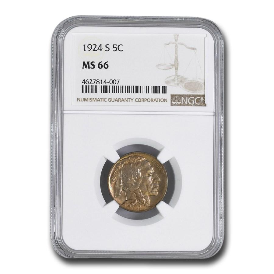 1924-S Buffalo Nickel MS-66 NGC