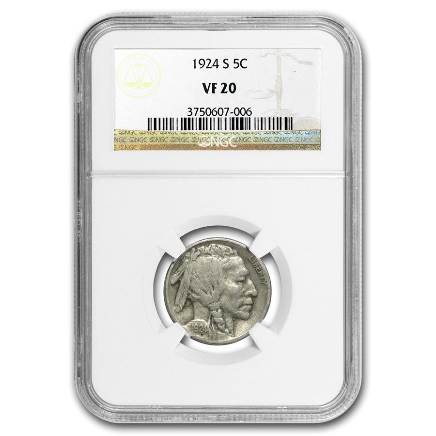 1924-S Buffalo Nickel VF-20 NGC