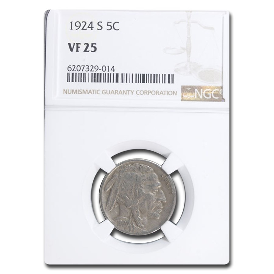 1924-S Buffalo Nickel VF-25 NGC