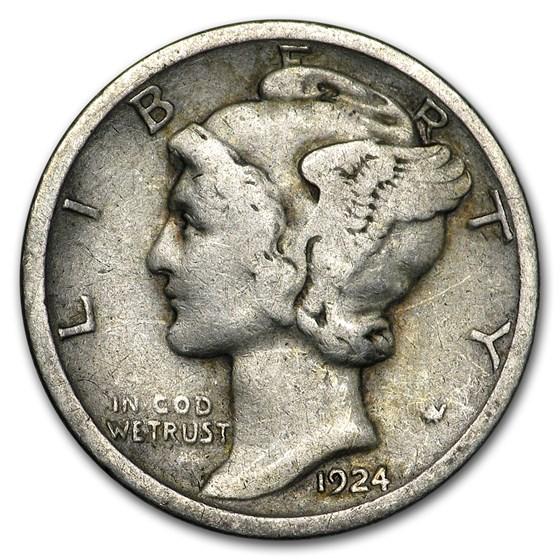 1924-S Mercury Dime Good/Fine