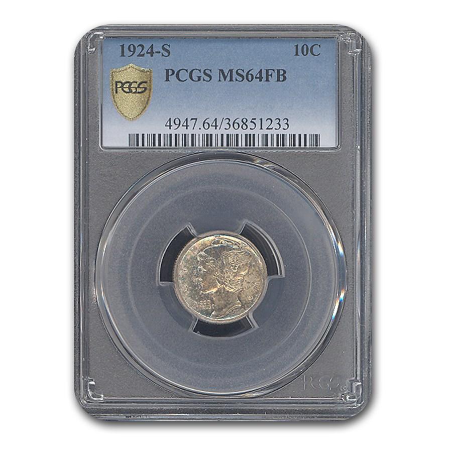 1924-S Mercury Dime MS-64 PCGS (FB)