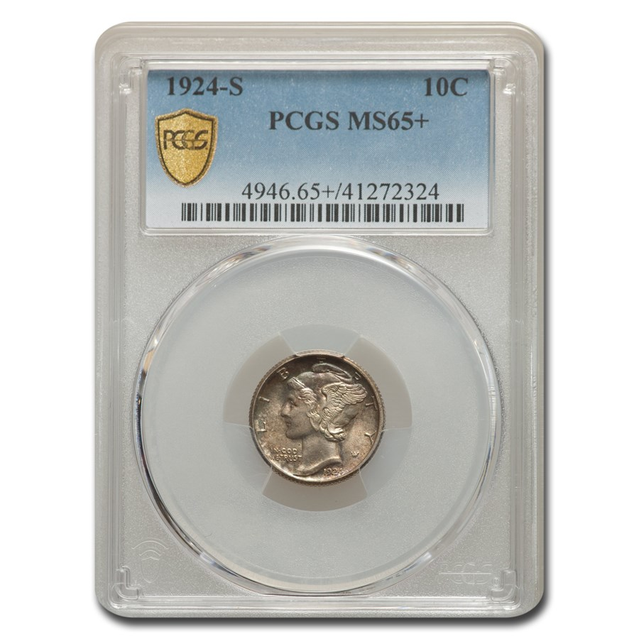 1924-S Mercury Dime MS-65+ PCGS