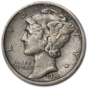 1924-S Mercury Dime XF