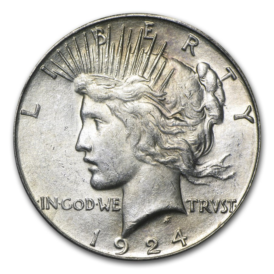 1924-S Peace Dollar AU