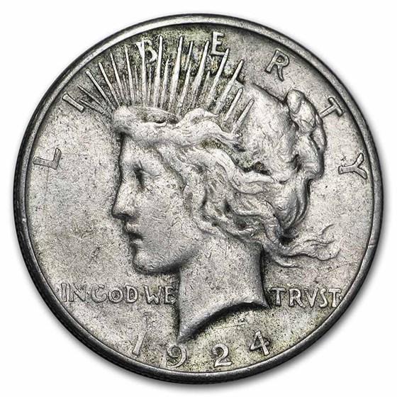 1924-S Peace Dollar VG/VF