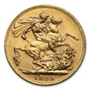 1925-1932-SA South Africa Gold Sovereign George V AU