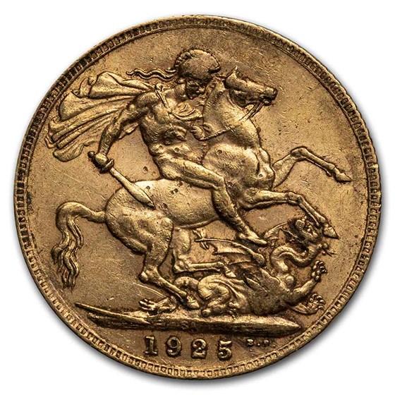 1925-1932-SA South Africa Gold Sovereign George V Avg Circ