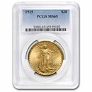 1925 $20 Saint-Gaudens Gold Double Eagle MS-65 PCGS