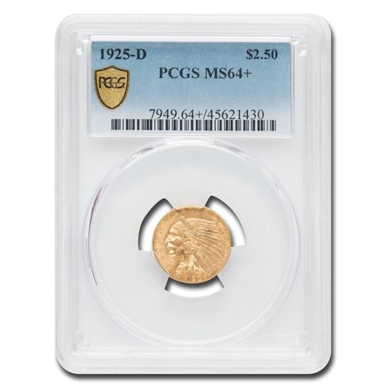 1925-D $2.50 Indian Gold Quarter Eagle MS-64+ PCGS