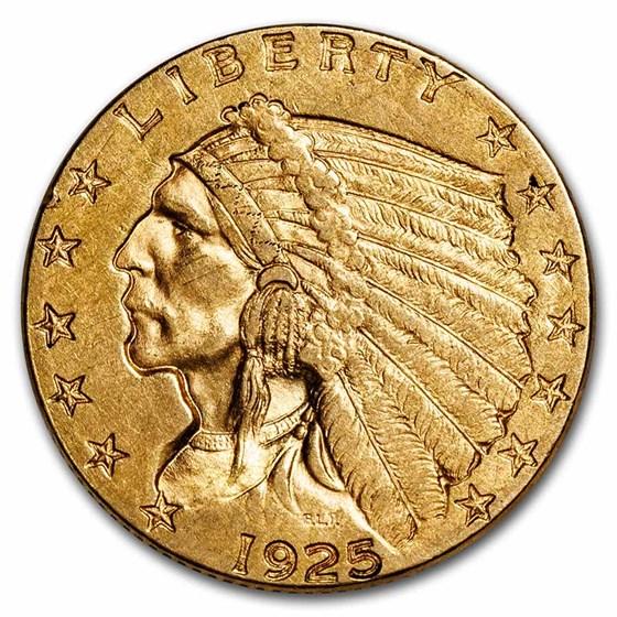 1925-D $2.50 Indian Gold Quarter Eagle XF