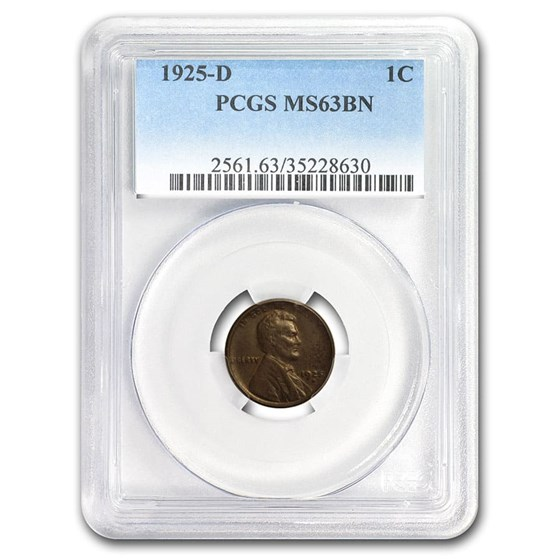 1925-D Lincoln Cent MS-63 PCGS (Brown)