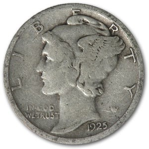 1925-D Mercury Dime Fine
