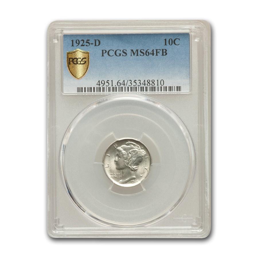 1925-D Mercury Dime MS-64 PCGS (FB)