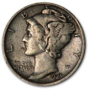 1925-D Mercury Dime XF
