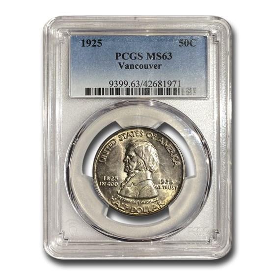 1925 Fort Vancouver Half Dollar MS-63 PCGS
