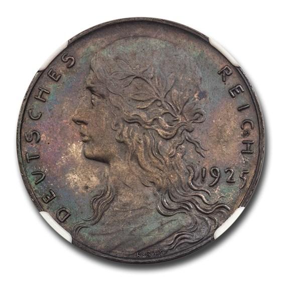 1925 Germany Weimar Republic Silver 3 Mark PR-63 NGC