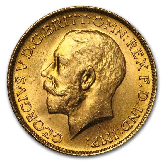 1925 Great Britain Gold Sovereign George V BU