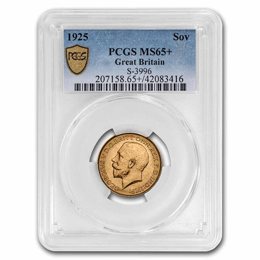 1925 Great Britain Gold Sovereign George V MS-65+ PCGS