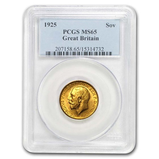1925 Great Britain Gold Sovereign George V MS-65 PCGS