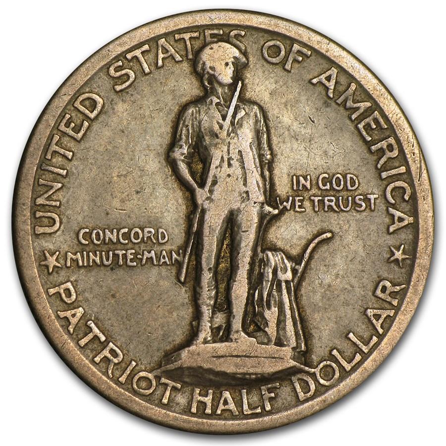 1925 Lexington-Concord Sesquicentennial Half VF