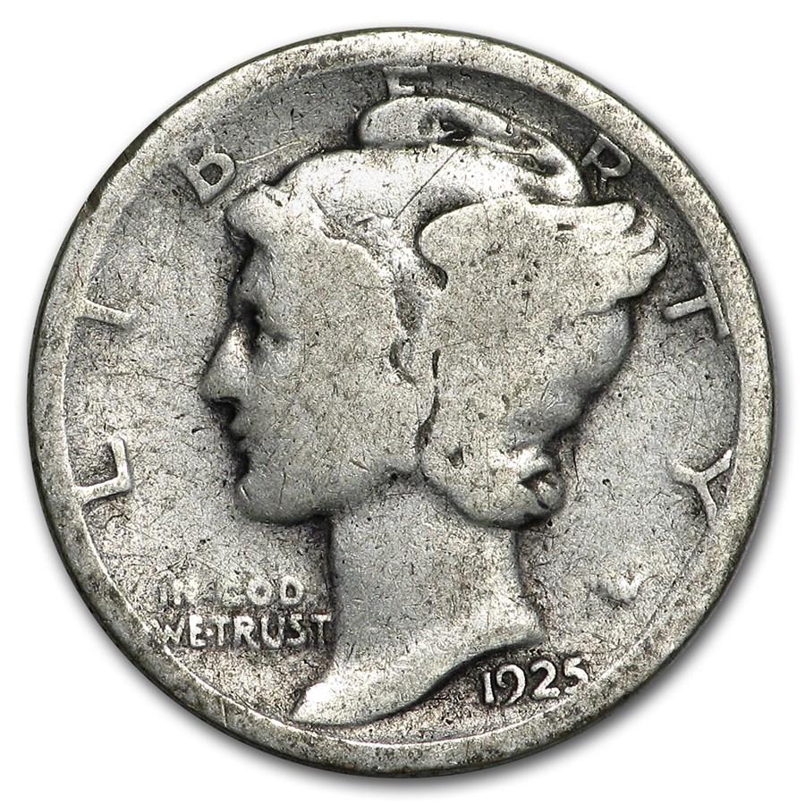 1925 Mercury Dime Good/VF