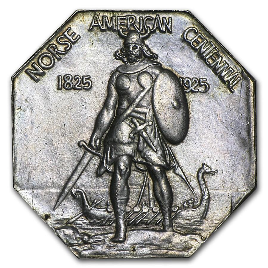 1925 Norse-American Centennial Thick Medal BU
