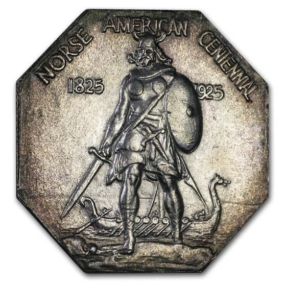 1925 Norse-American Centennial Thin Medal BU