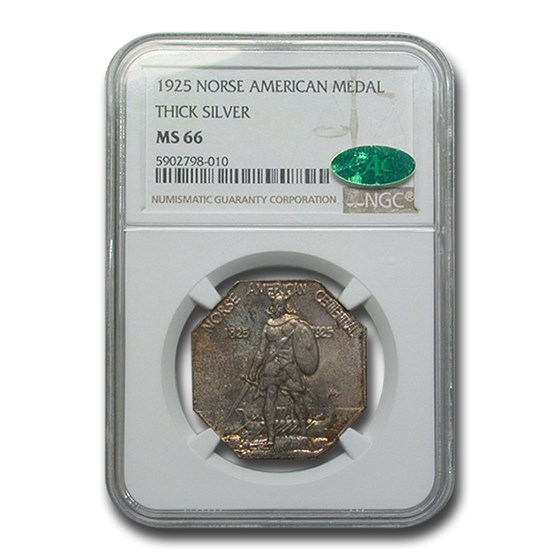1925 Norse Centennial Medal Half Dollar MS-66 NGC CAC (Thick)