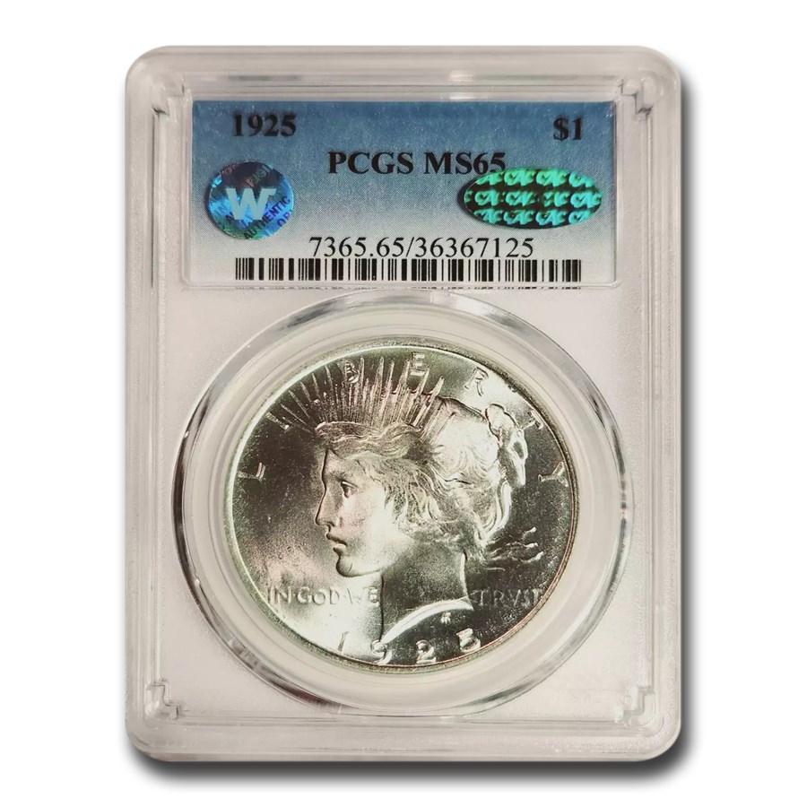 1925 Peace Dollar MS-65 PCGS CAC