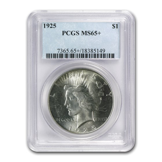 1925 Peace Dollar MS-65+ Plus PCGS