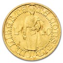 1925-R San Marino Gold 10 Lire MS-65+ NGC