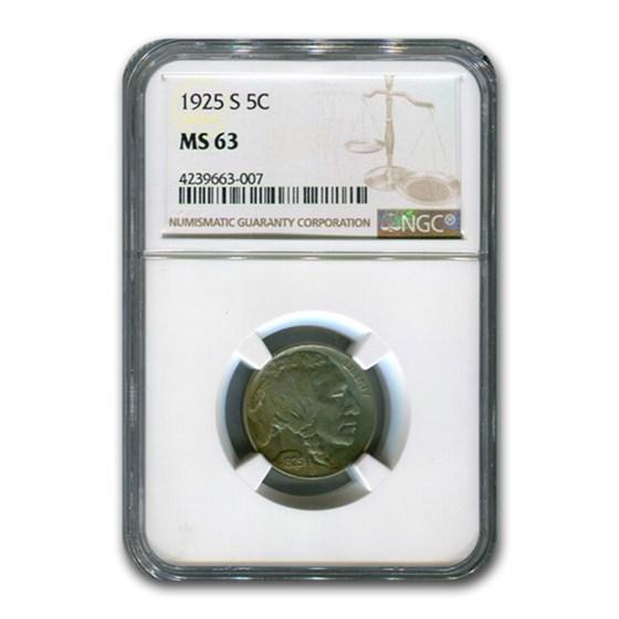 1925-S Buffalo Nickel MS-63 NGC