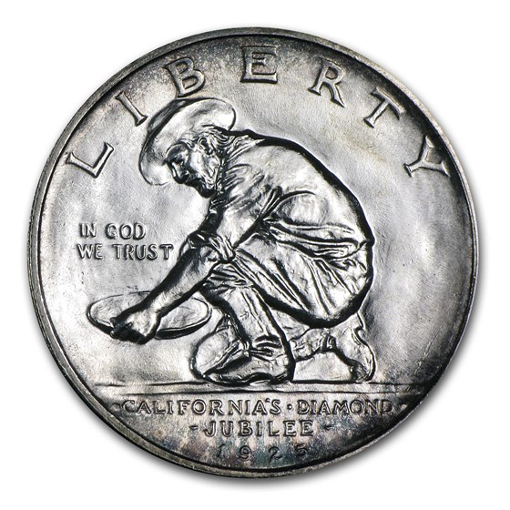 1925-S California Diamond Jubilee Commem Half BU