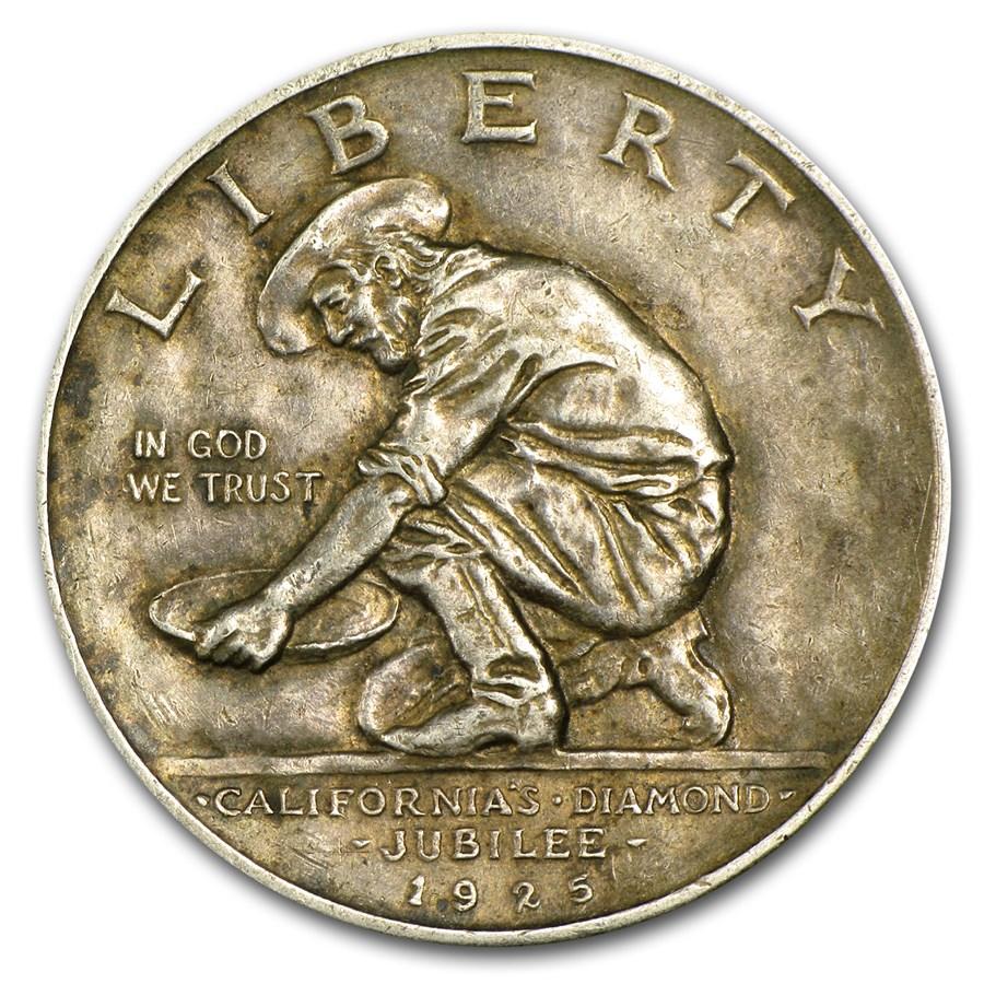 1925-S California Diamond Jubilee Commem Half XF