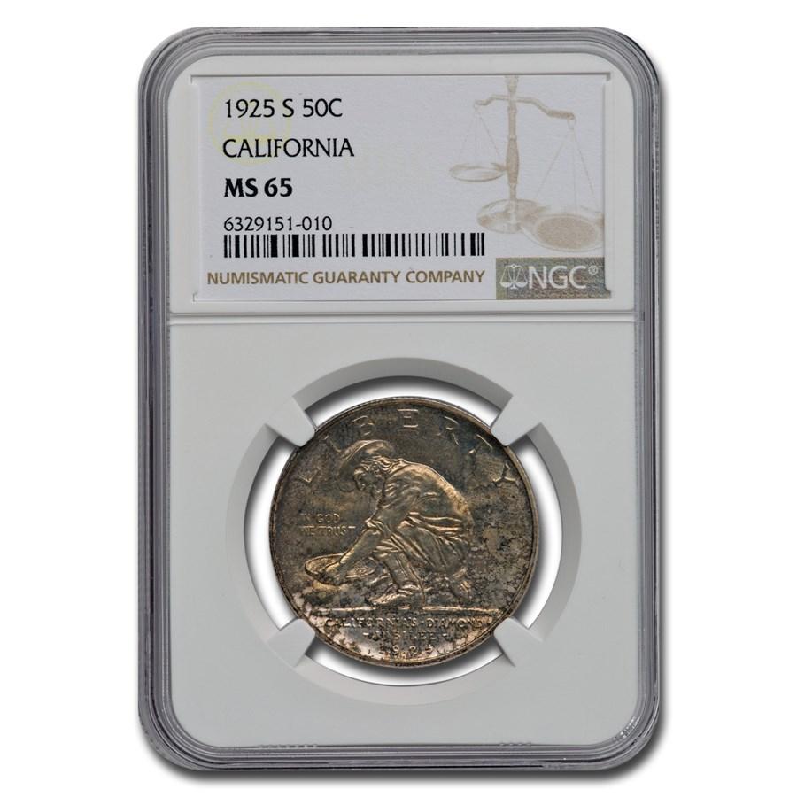 1925-S California Diamond Jubilee Half Dollar MS-65 NGC