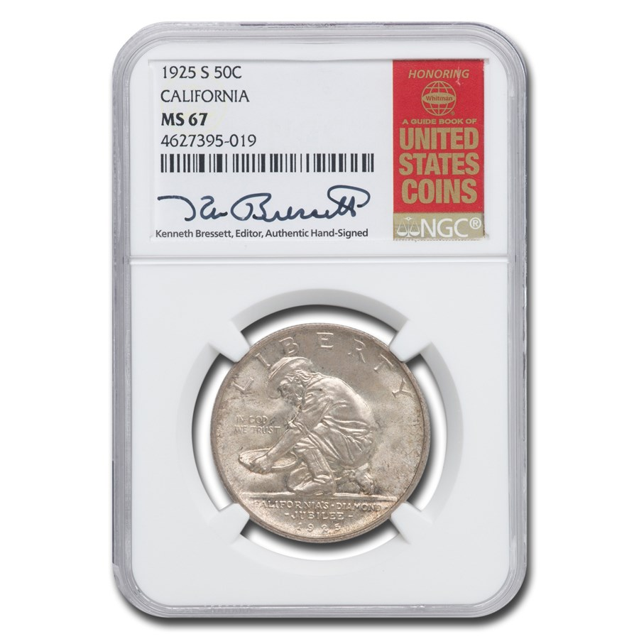 1925-S California Diamond Jubilee Half Dollar MS-67 NGC