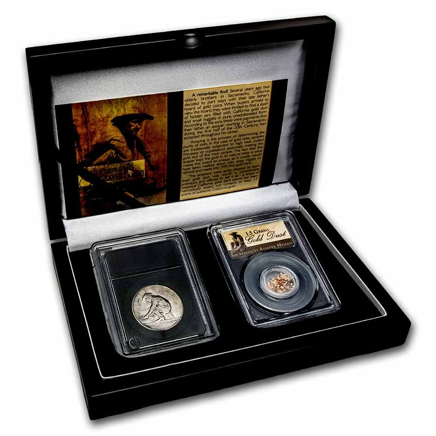 1925-S California Diamond Jubilee & Prospector Gold Dust Set
