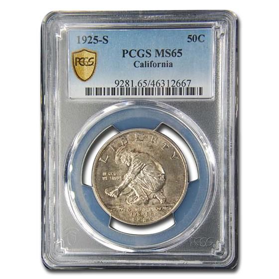 1925-S California Diamond Jubilee Silver Half Dollar MS-65 PCGS