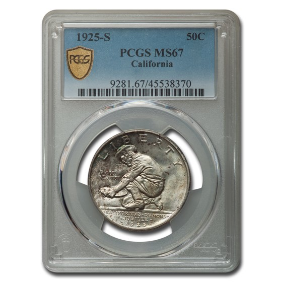 1925-S California Half Dollar Commem MS-67 PCGS