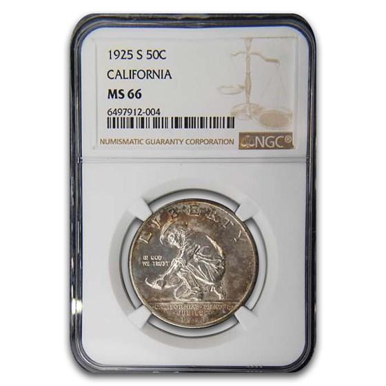 1925-S California Half Dollar MS-66 NGC