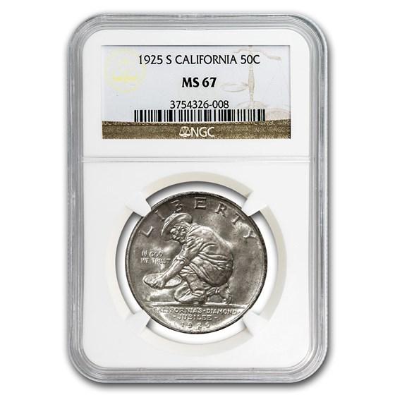 1925-S California Half Dollar MS-67 NGC